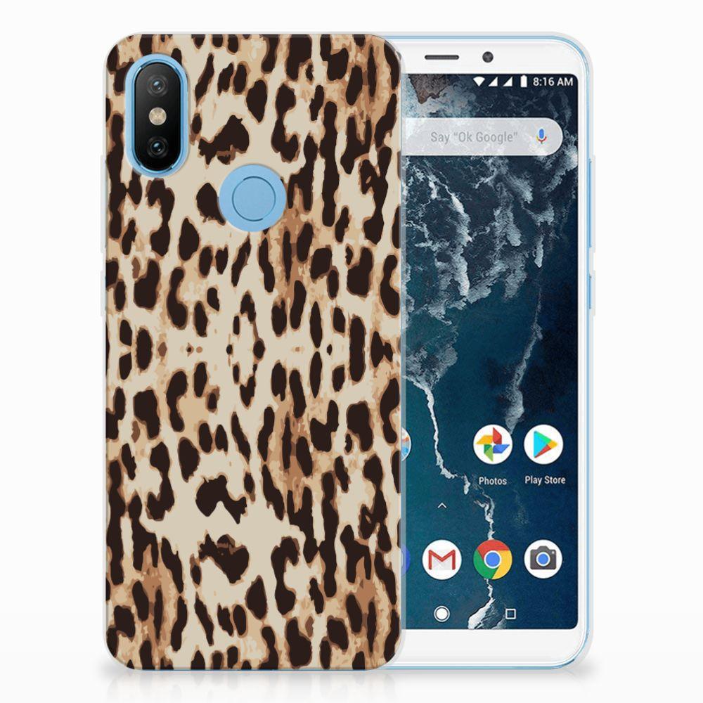 Xiaomi Mi A2 Uniek TPU Hoesje Leopard