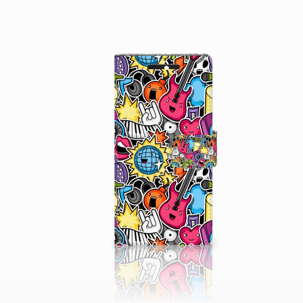 HTC Desire 628 Uniek Boekhoesje Punk Rock