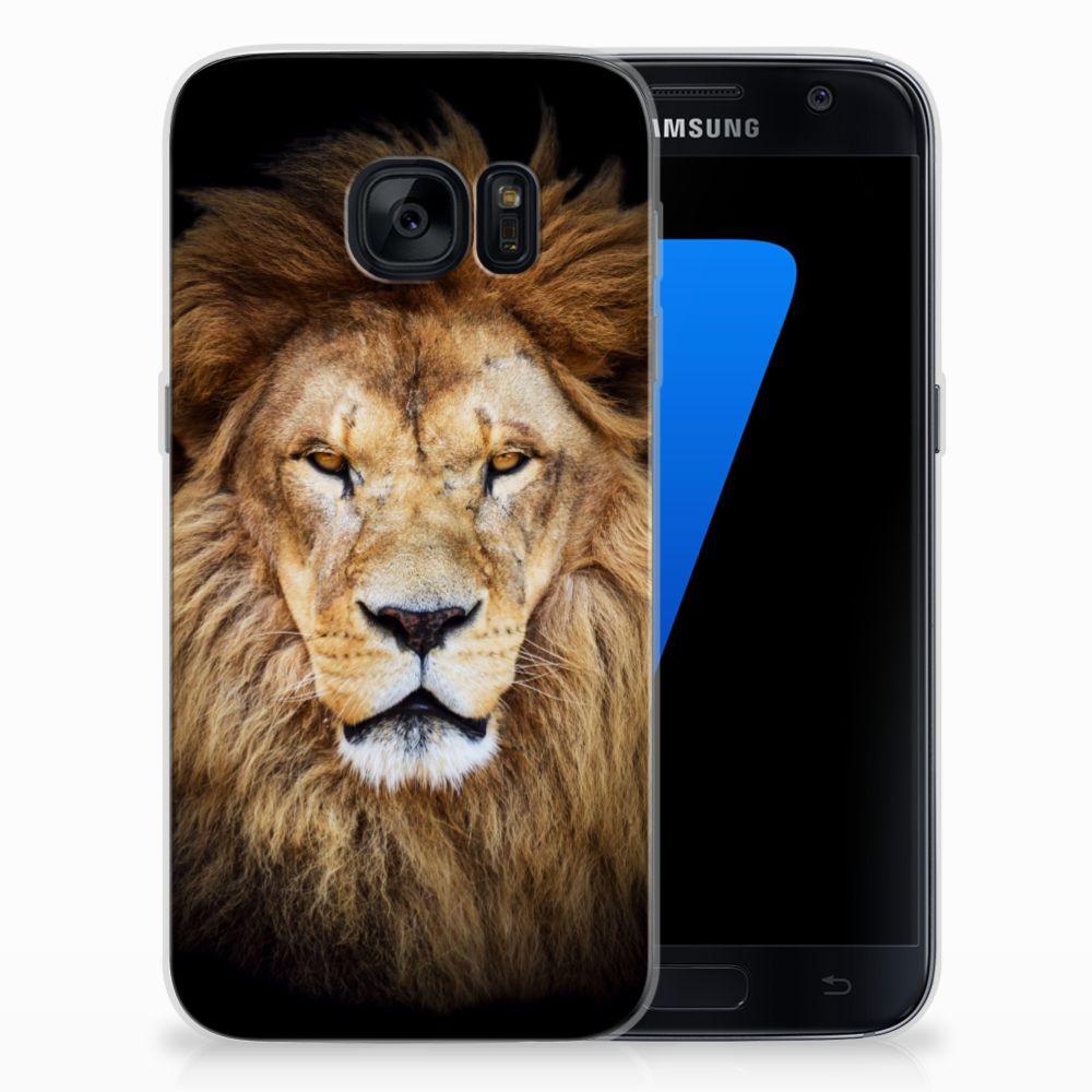 Samsung Galaxy S7 TPU Hoesje Leeuw