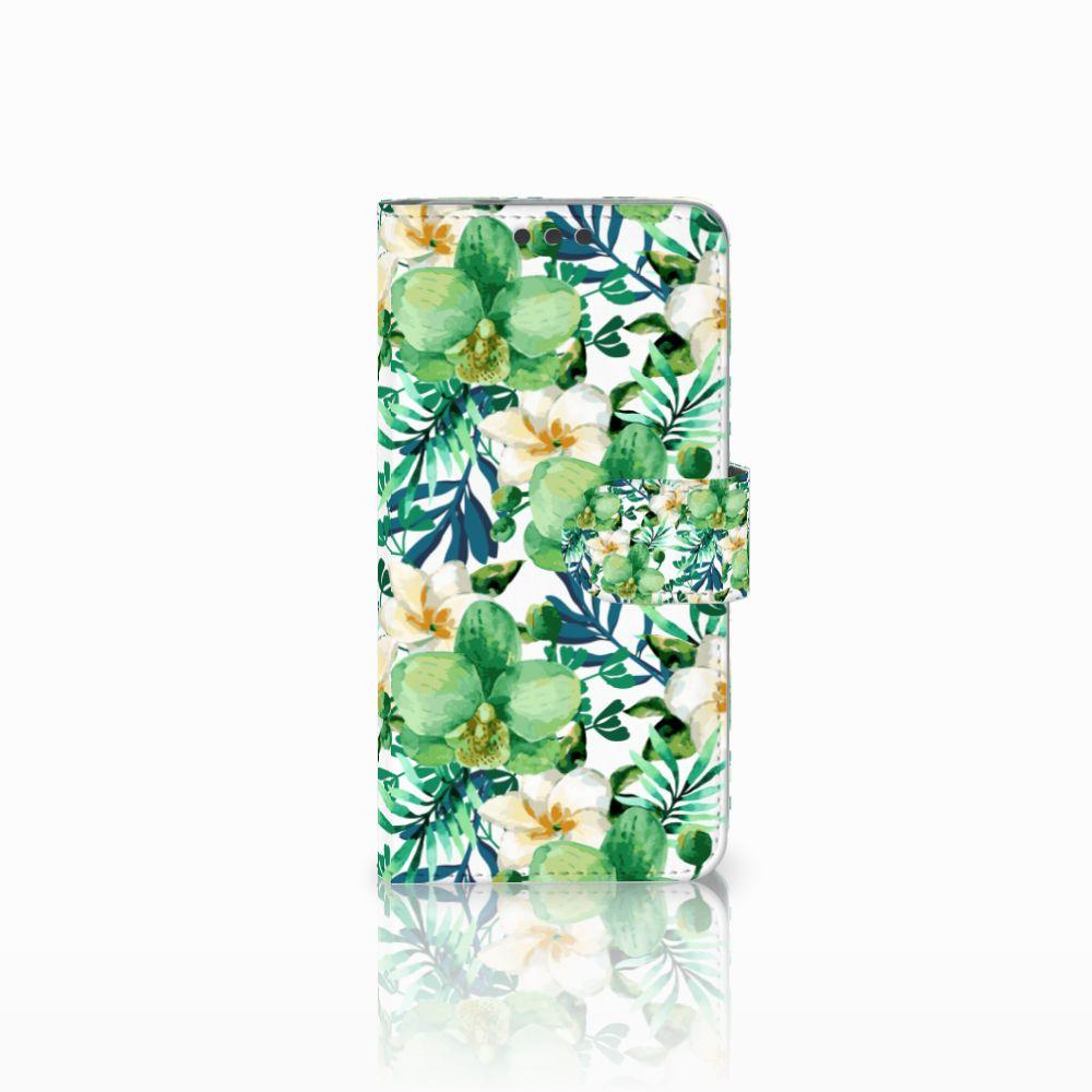 Microsoft Lumia 650 Uniek Boekhoesje Orchidee Groen