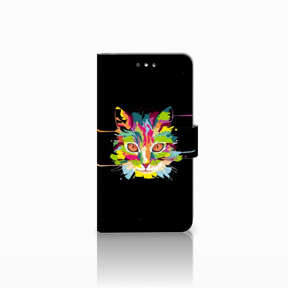 Huawei Y7 2017 | Y7 Prime 2017 Uniek Boekhoesje Cat Color