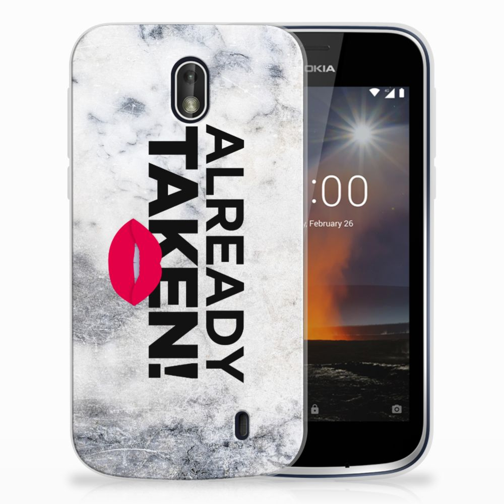 Nokia 1 TPU Hoesje Design Already Taken White