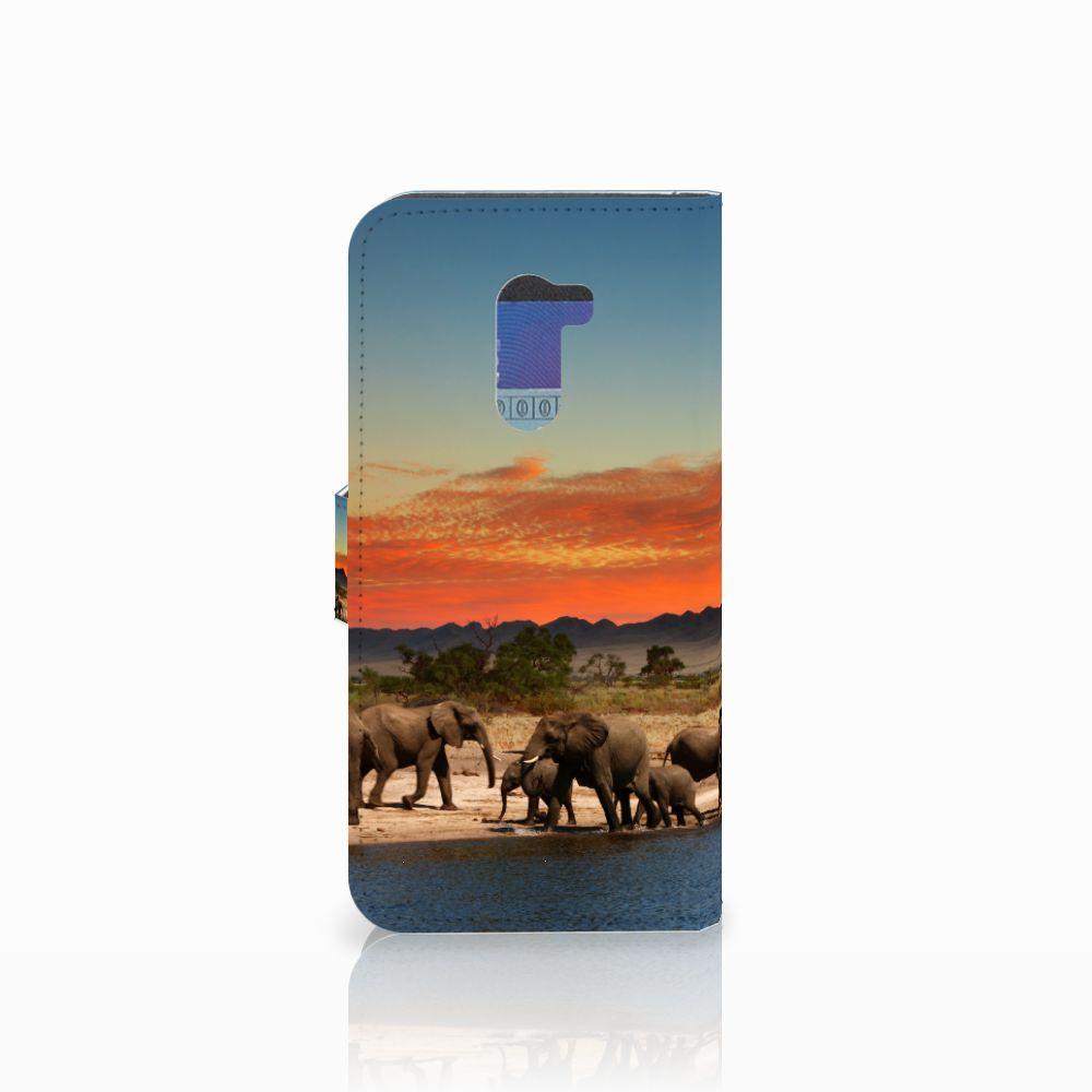 Xiaomi Pocophone F1 Telefoonhoesje met Pasjes Olifanten