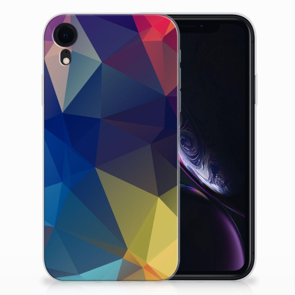 Apple iPhone Xr TPU Hoesje Polygon Dark