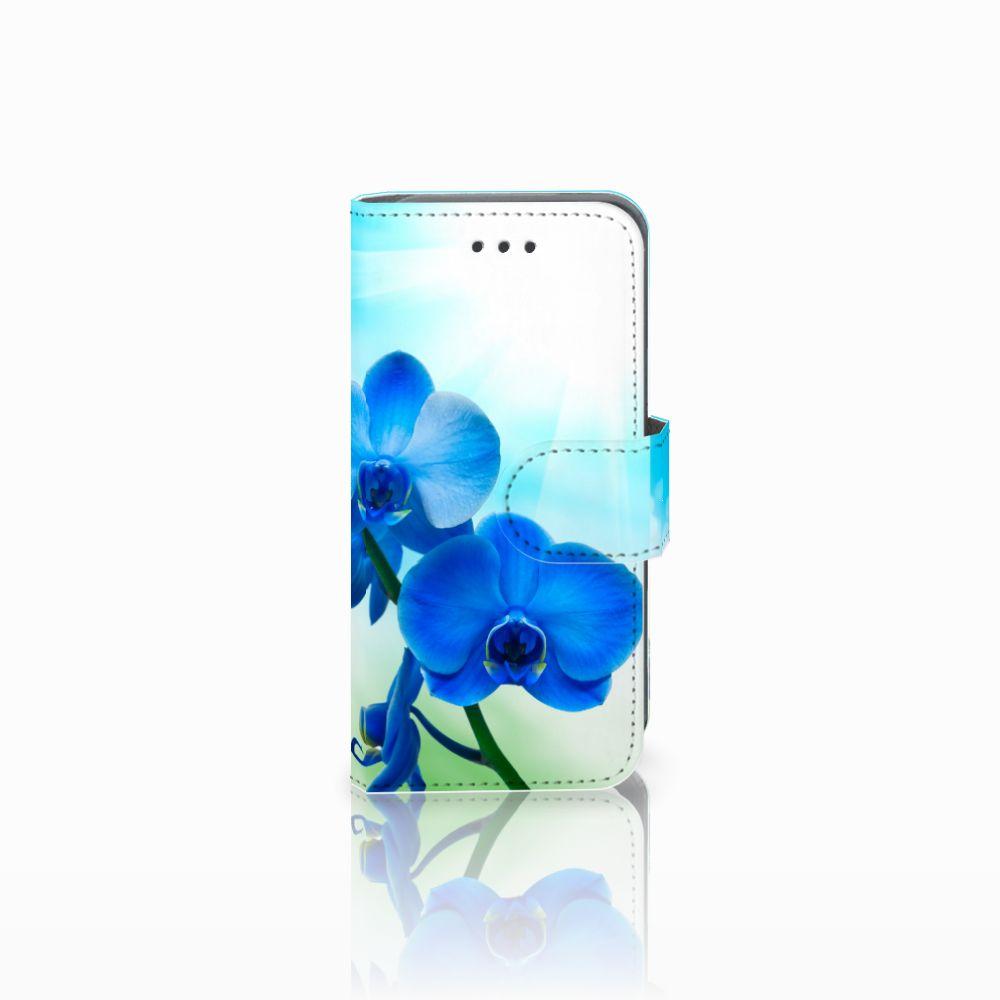 Apple iPod Touch 5 | 6 Boekhoesje Design Orchidee Blauw