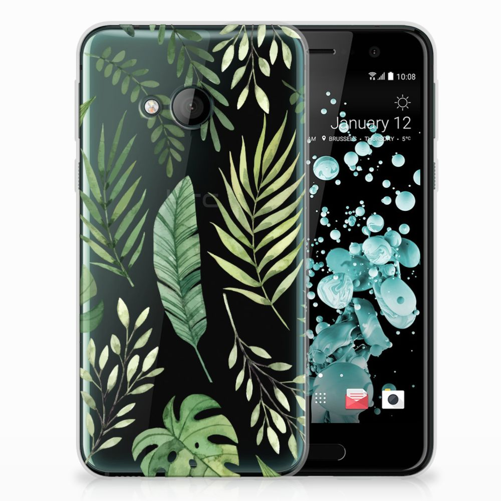 HTC U Play TPU Case Leaves