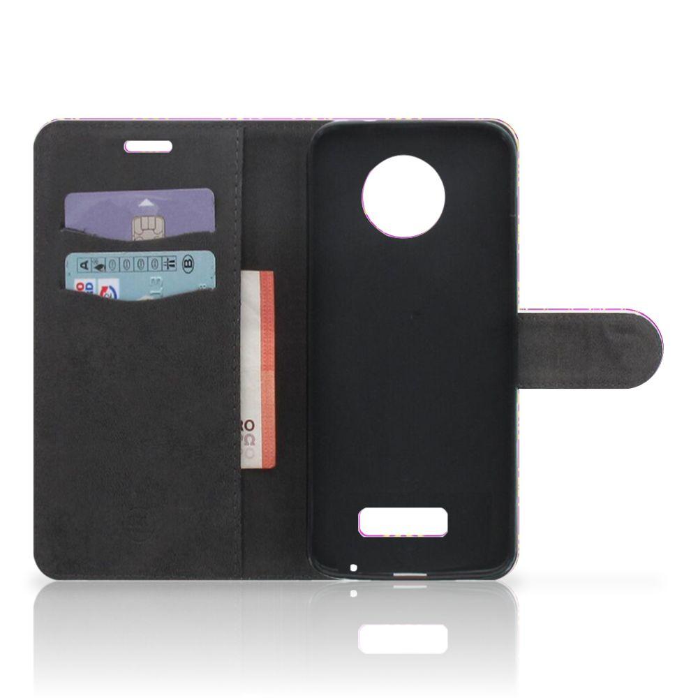 Wallet Case Motorola Moto Z Barok Roze
