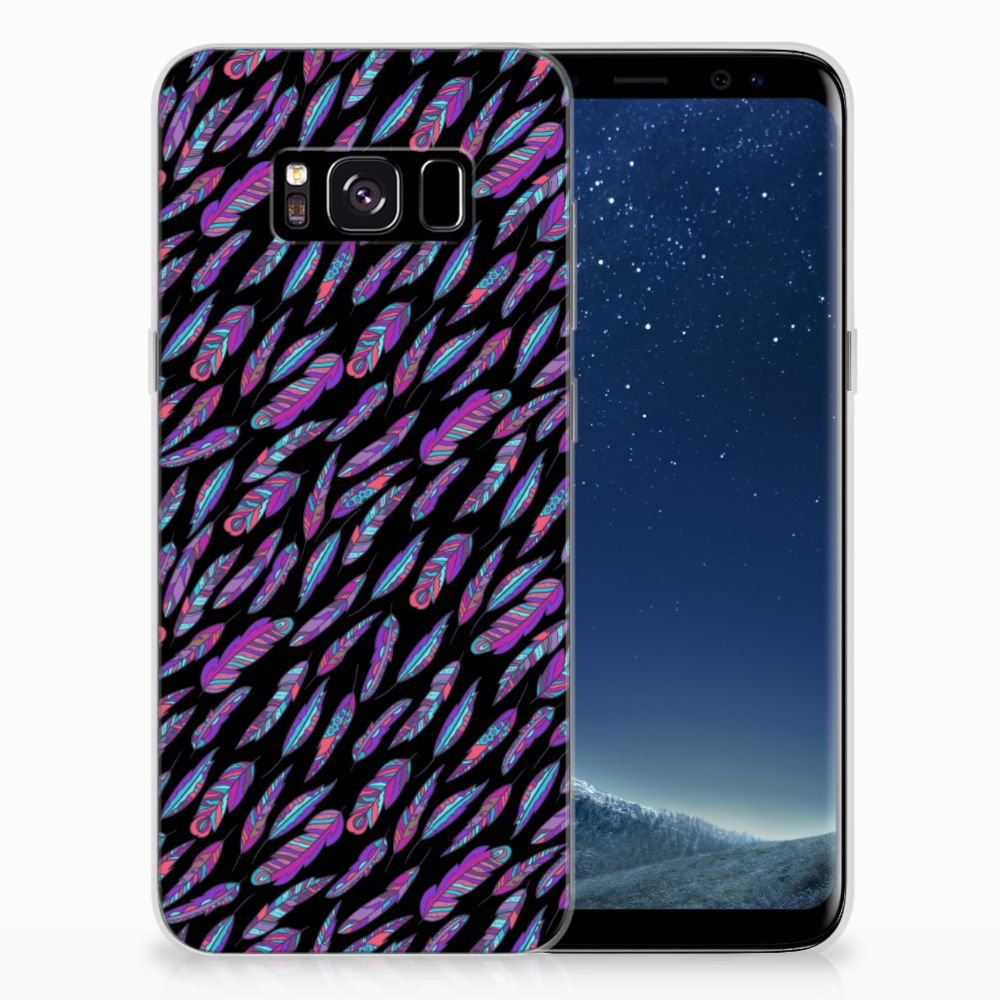 Samsung Galaxy S8 TPU bumper Feathers Color