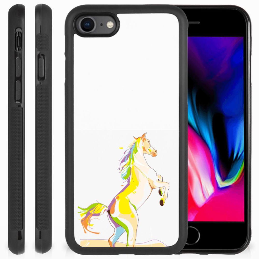Apple iPhone 7 | 8 Bumper Hoesje Horse Color