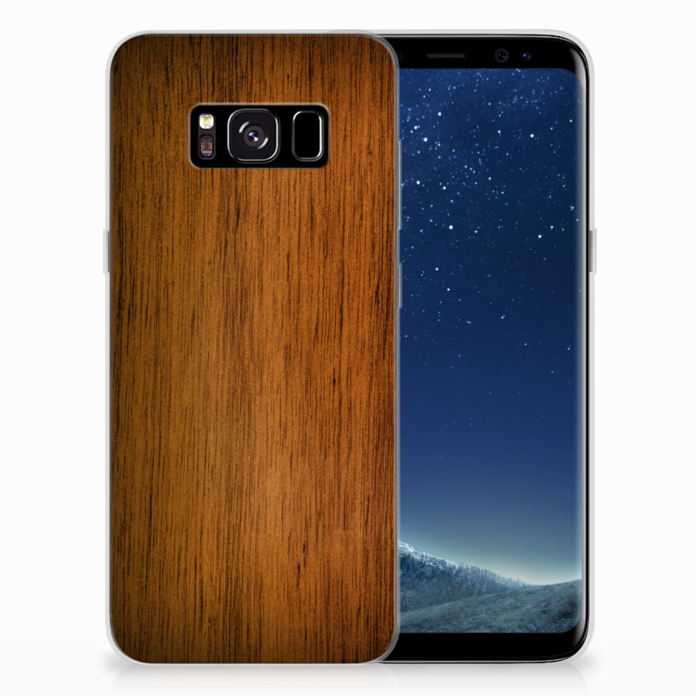 Samsung Galaxy S8 Bumper Hoesje Donker Hout