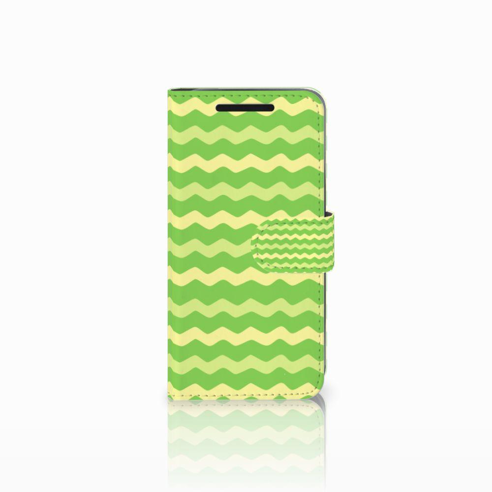 HTC One M9 Boekhoesje Design Waves Green
