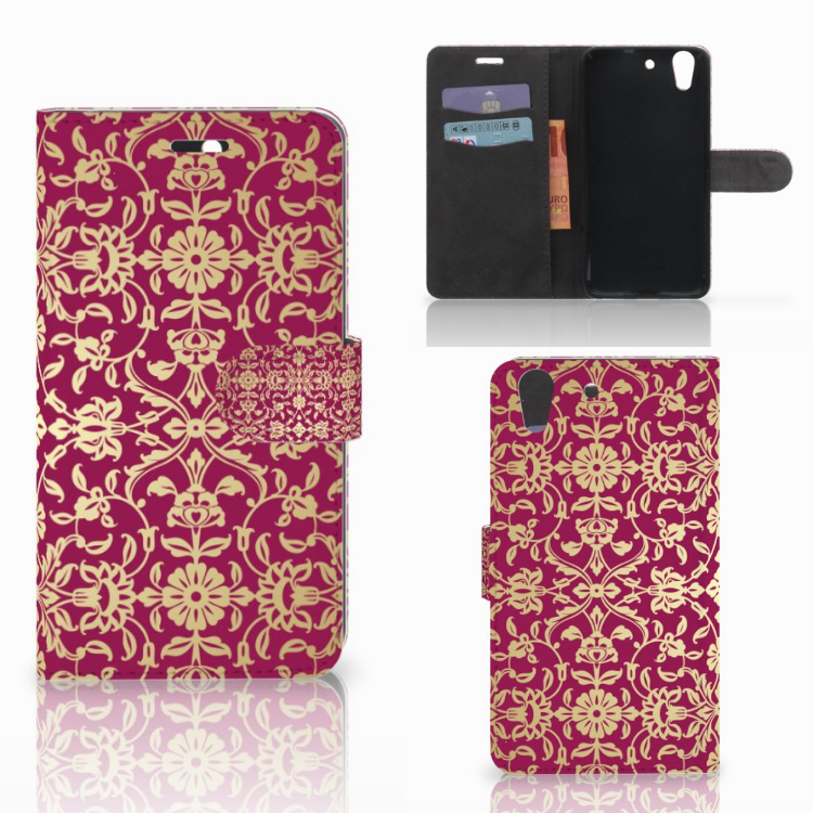 Wallet Case Huawei Y6 II | Honor 5A Barok Pink