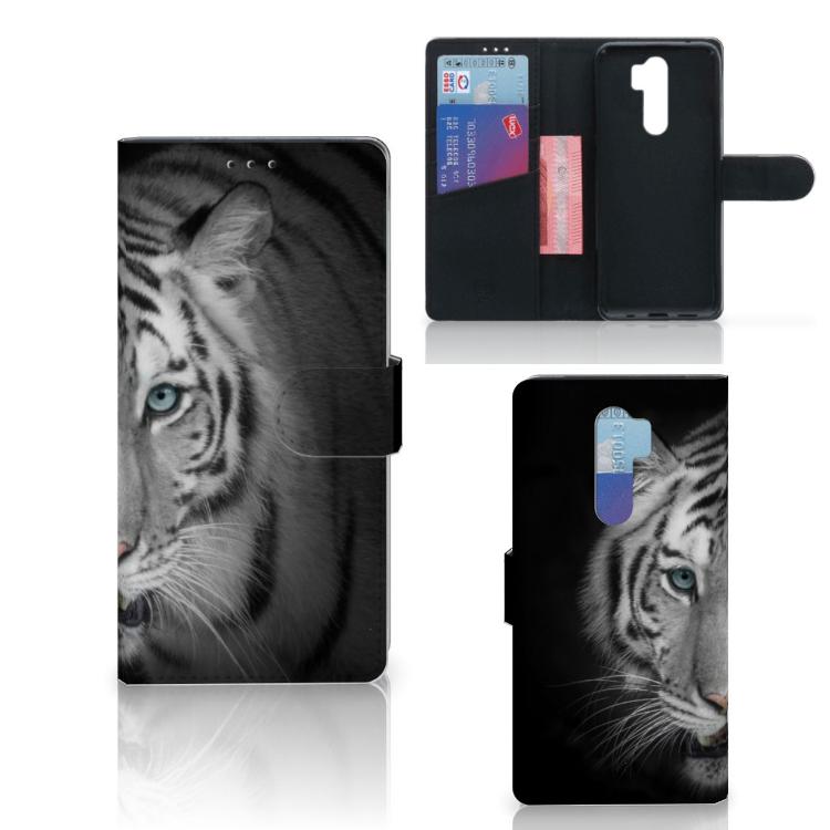 Xiaomi Note 8 Pro Telefoonhoesje met Pasjes Tijger