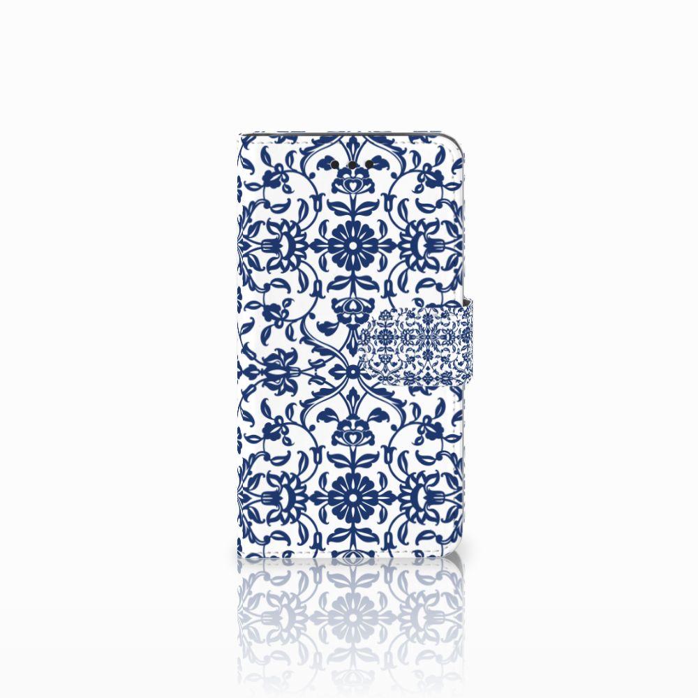 Samsung Galaxy J2 Pro 2018 Boekhoesje Flower Blue