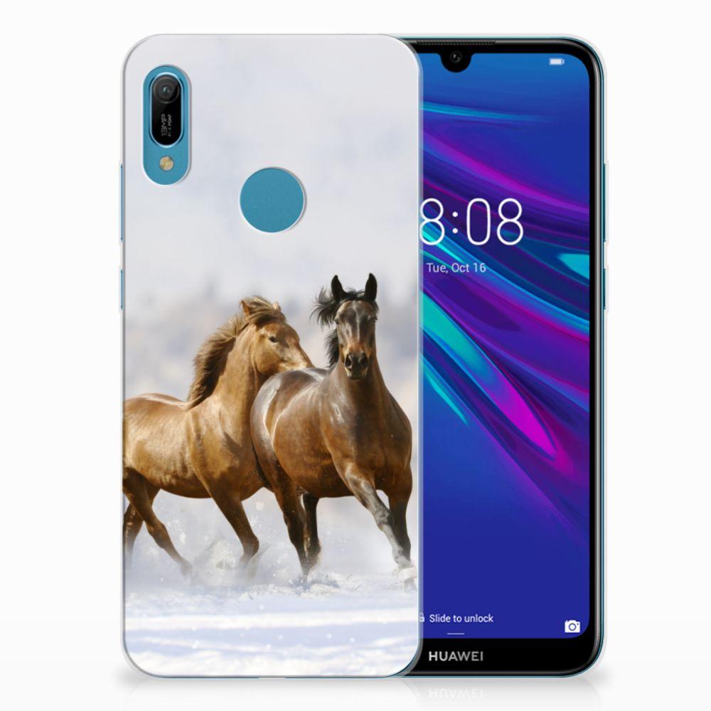 Huawei Y6 2019 | Y6 Pro 2019 TPU Hoesje Paarden