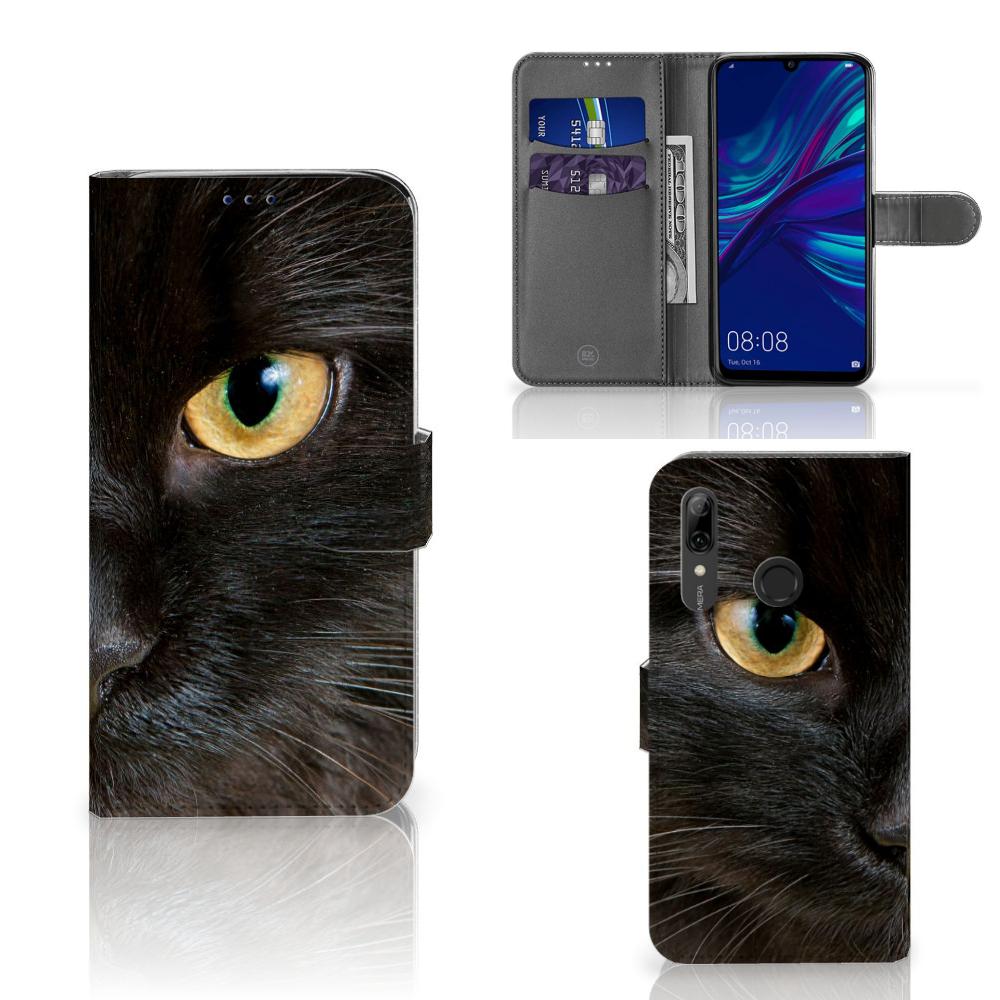 Huawei P Smart Plus (2019) Telefoonhoesje met Pasjes Zwarte Kat