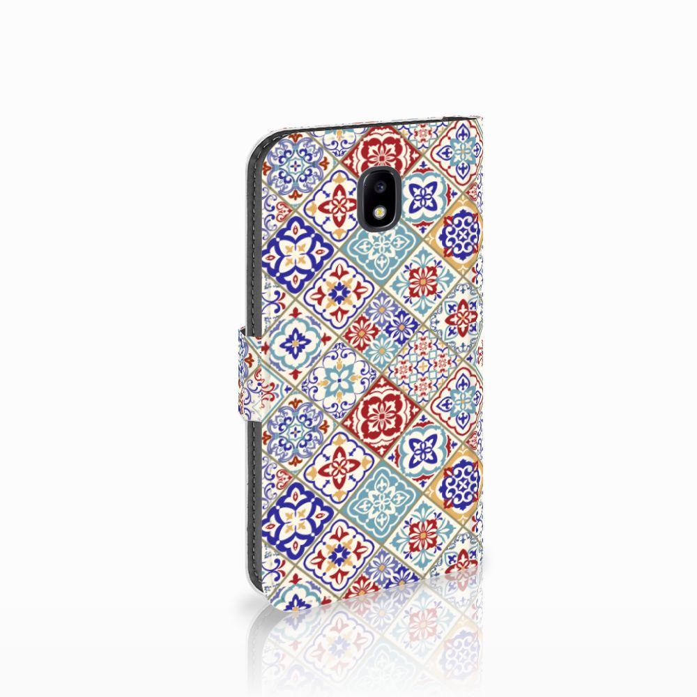 Samsung Galaxy J5 2017 Uniek Boekhoesje Tiles Color