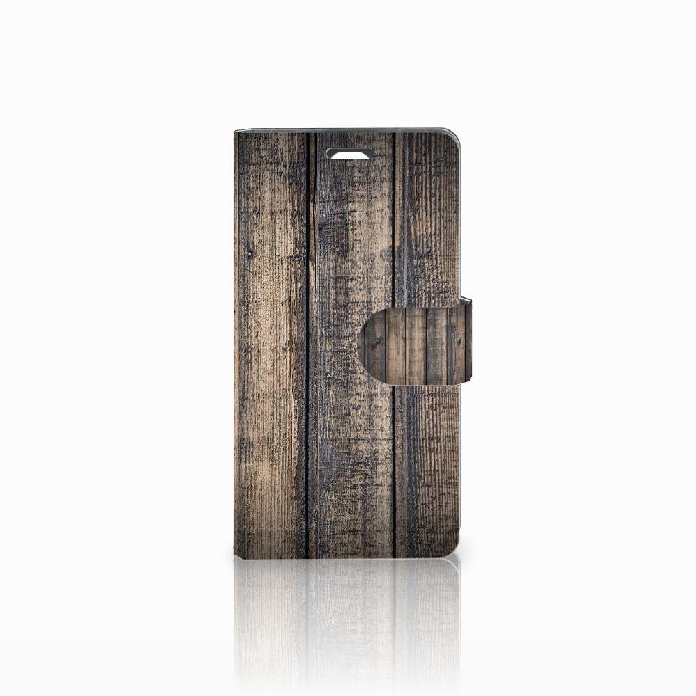 LG Magna | G4C Boekhoesje Design Steigerhout