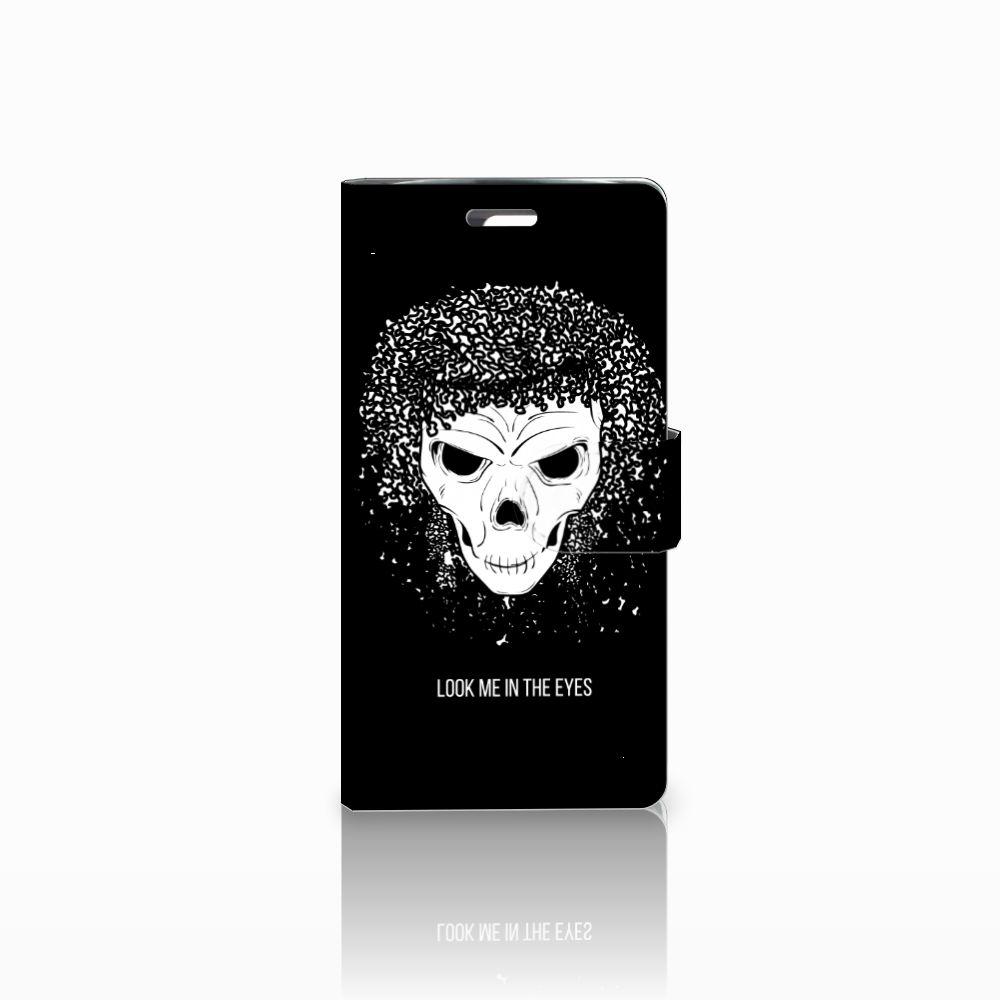 LG K10 2015 Uniek Boekhoesje Skull Hair