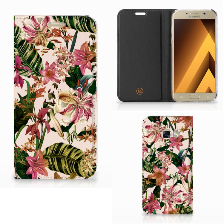 Samsung Galaxy A3 2017 Smart Cover Flowers