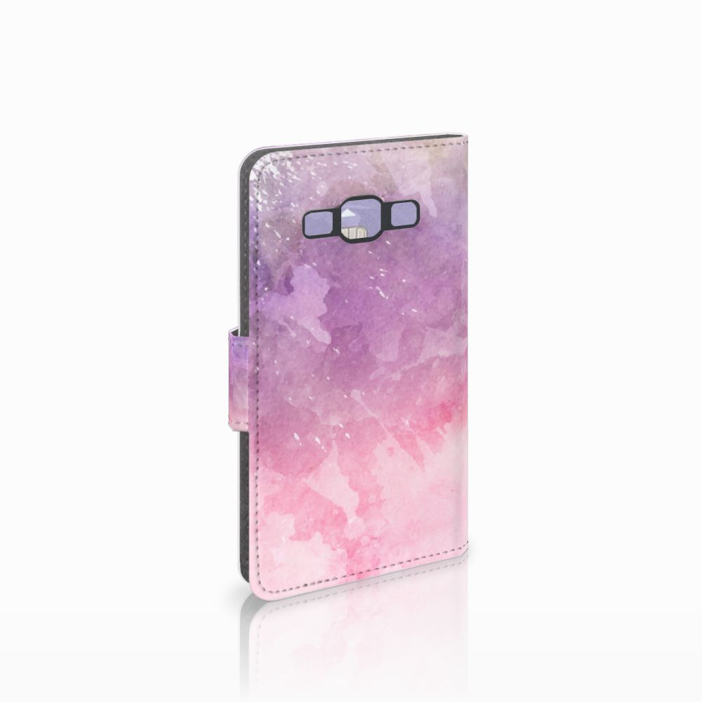 Samsung Galaxy A3 2015 Boekhoesje Design Pink Purple Paint
