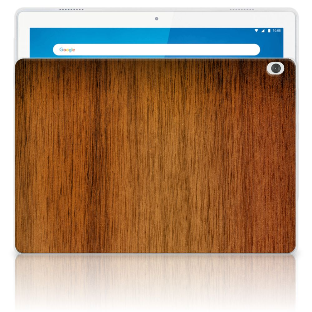 Lenovo Tab M10 Silicone Tablet Hoes Donker Hout