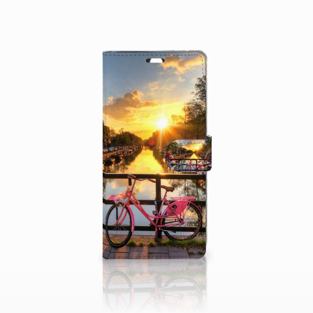 Sony Xperia C5 Ultra Uniek Boekhoesje Amsterdamse Grachten