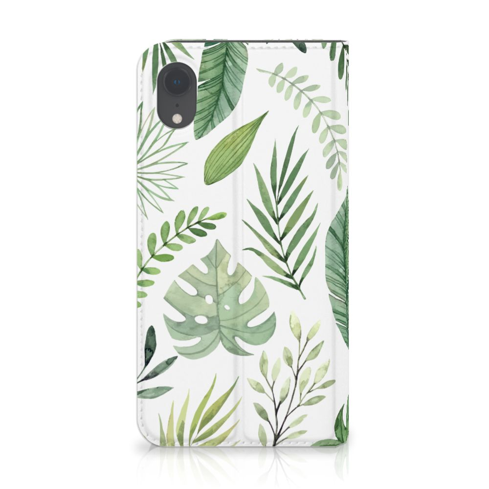 Apple iPhone Xr Uniek Standcase Hoesje Leaves