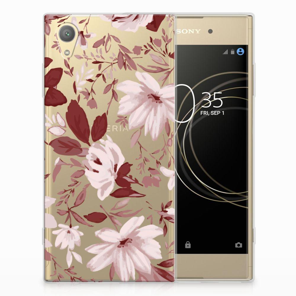 Sony Xperia XA1 Plus Uniek TPU Hoesje Watercolor Flowers