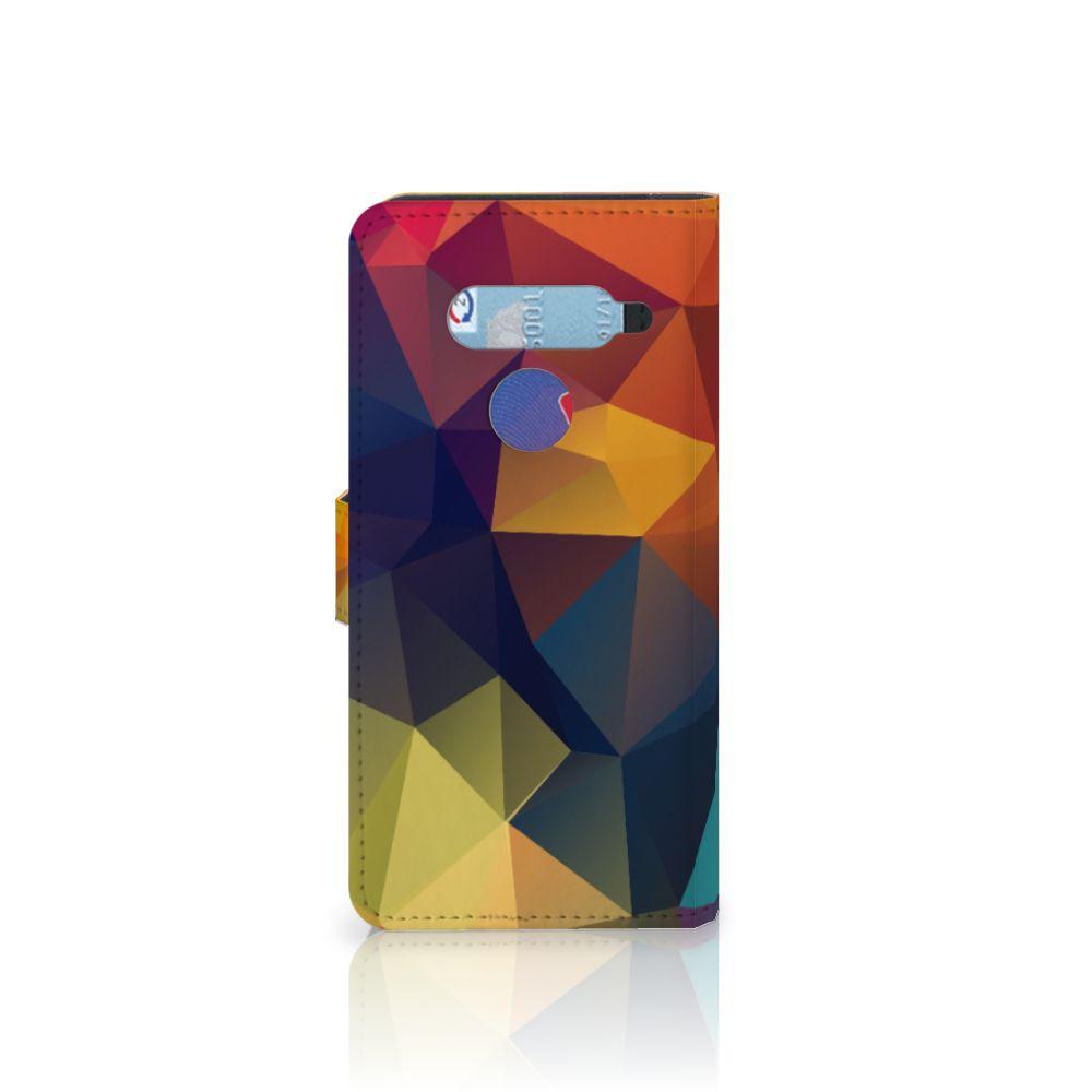 LG V40 Thinq Bookcase Polygon Color