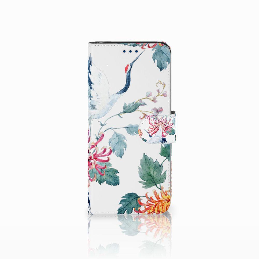 Samsung Galaxy S8 Telefoonhoesje met Pasjes Bird Flowers