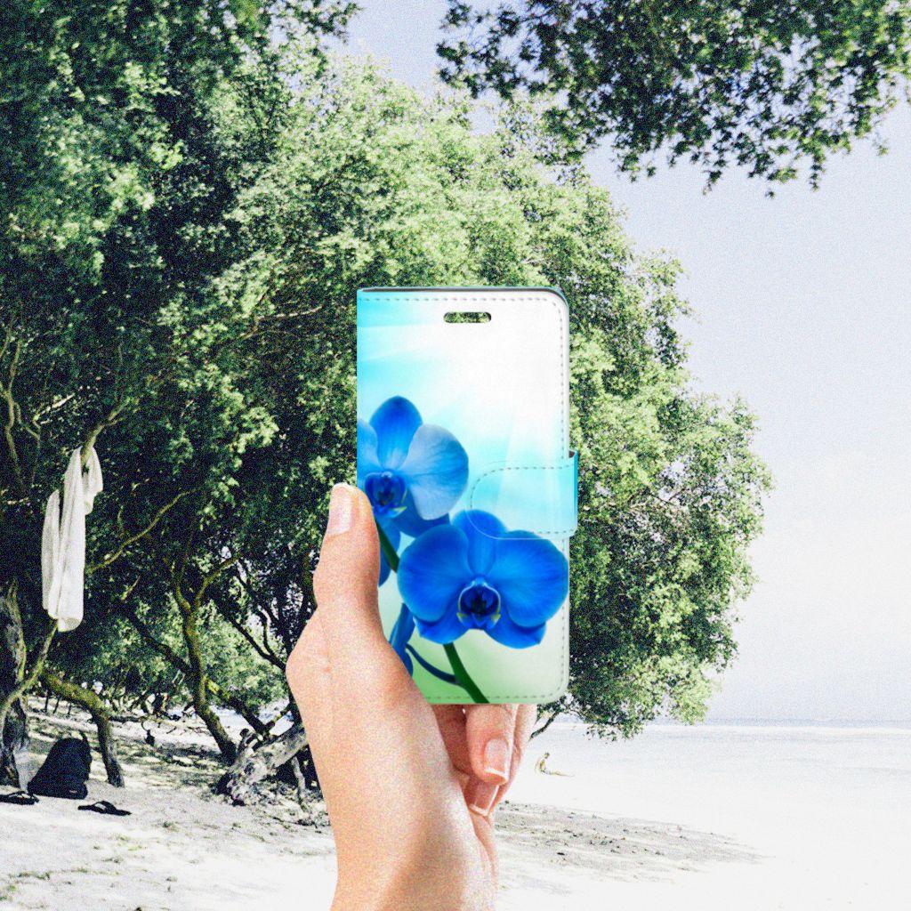 Acer Liquid Z330 Hoesje Orchidee Blauw