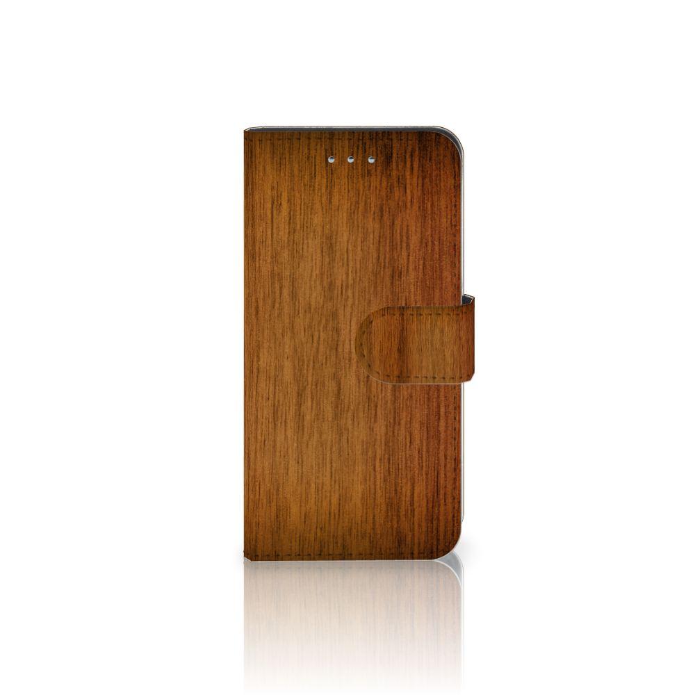 Samsung Galaxy S6 | S6 Duos Uniek Boekhoesje Donker Hout