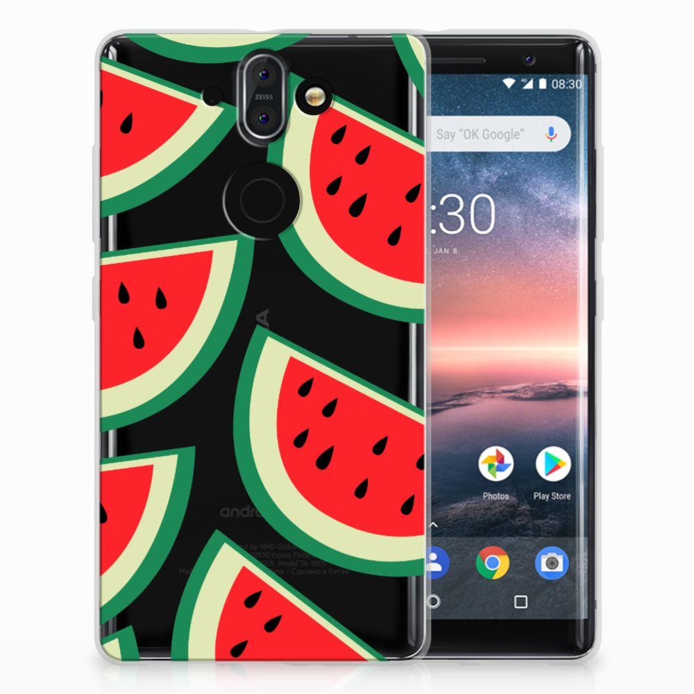 Nokia 9 | 8 Sirocco Siliconen Case Watermelons
