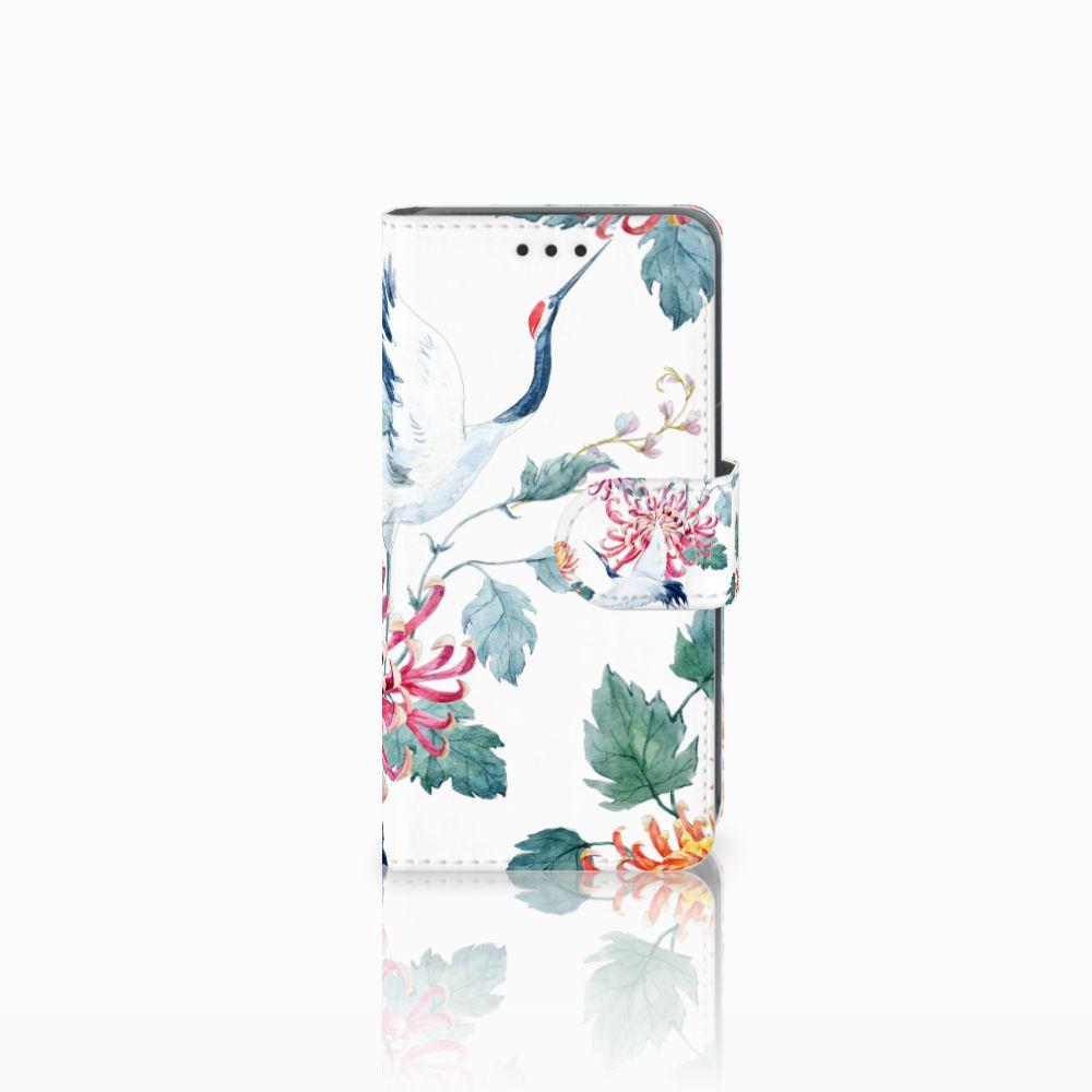 Nokia Lumia 630 Uniek Boekhoesje Bird Flowers