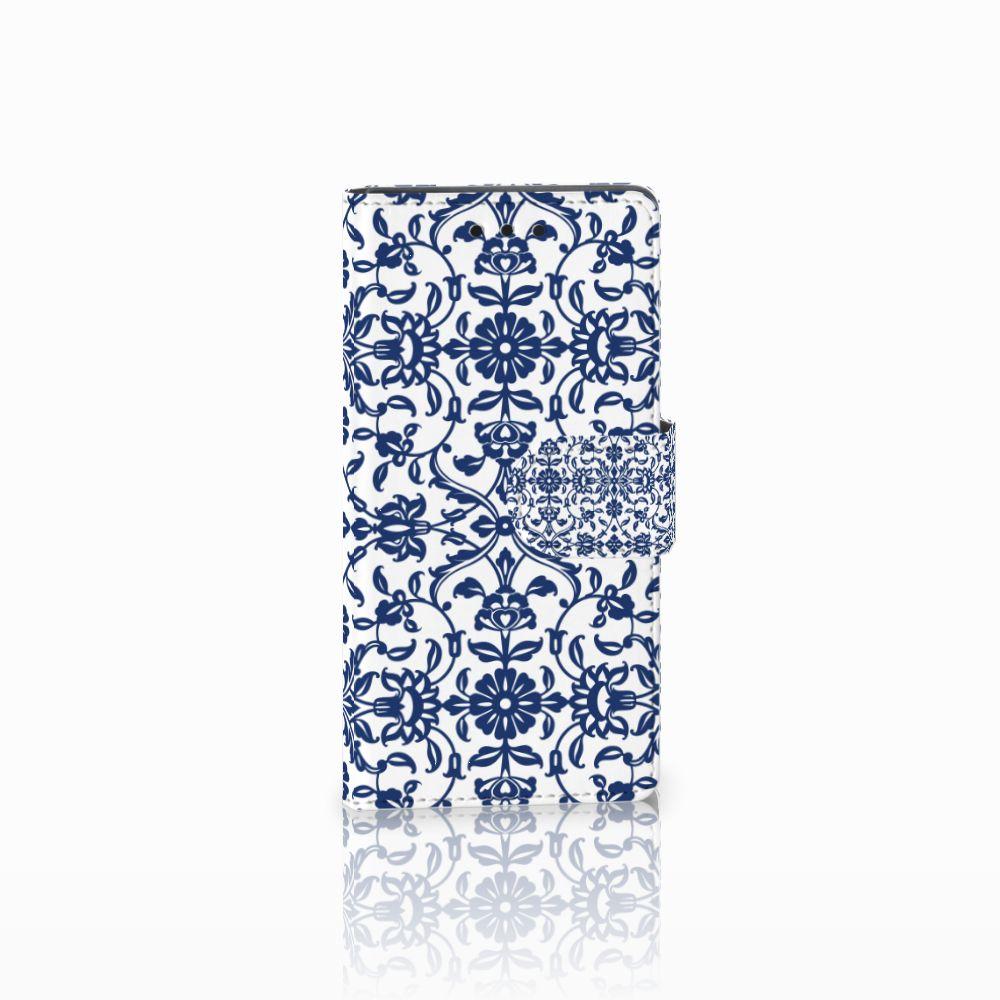 Sony Xperia Z5 Compact Uniek Boekhoesje Flower Blue