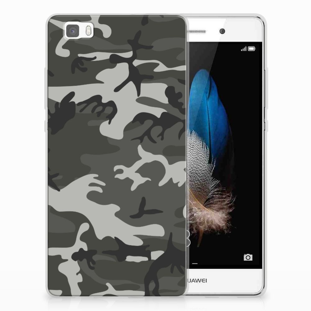 Huawei Ascend P8 Lite Uniek TPU Hoesje Army Light