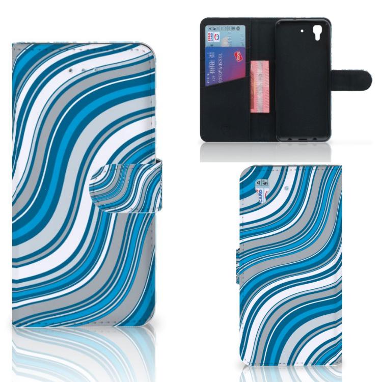 Honor 4A | Y6 Telefoon Hoesje Waves Blue