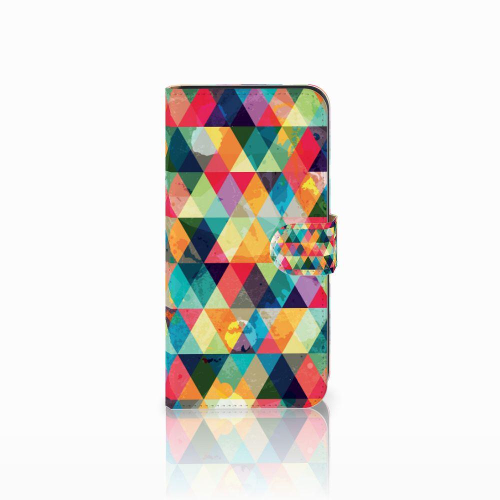 Samsung Galaxy E7 Uniek Boekhoesje Geruit
