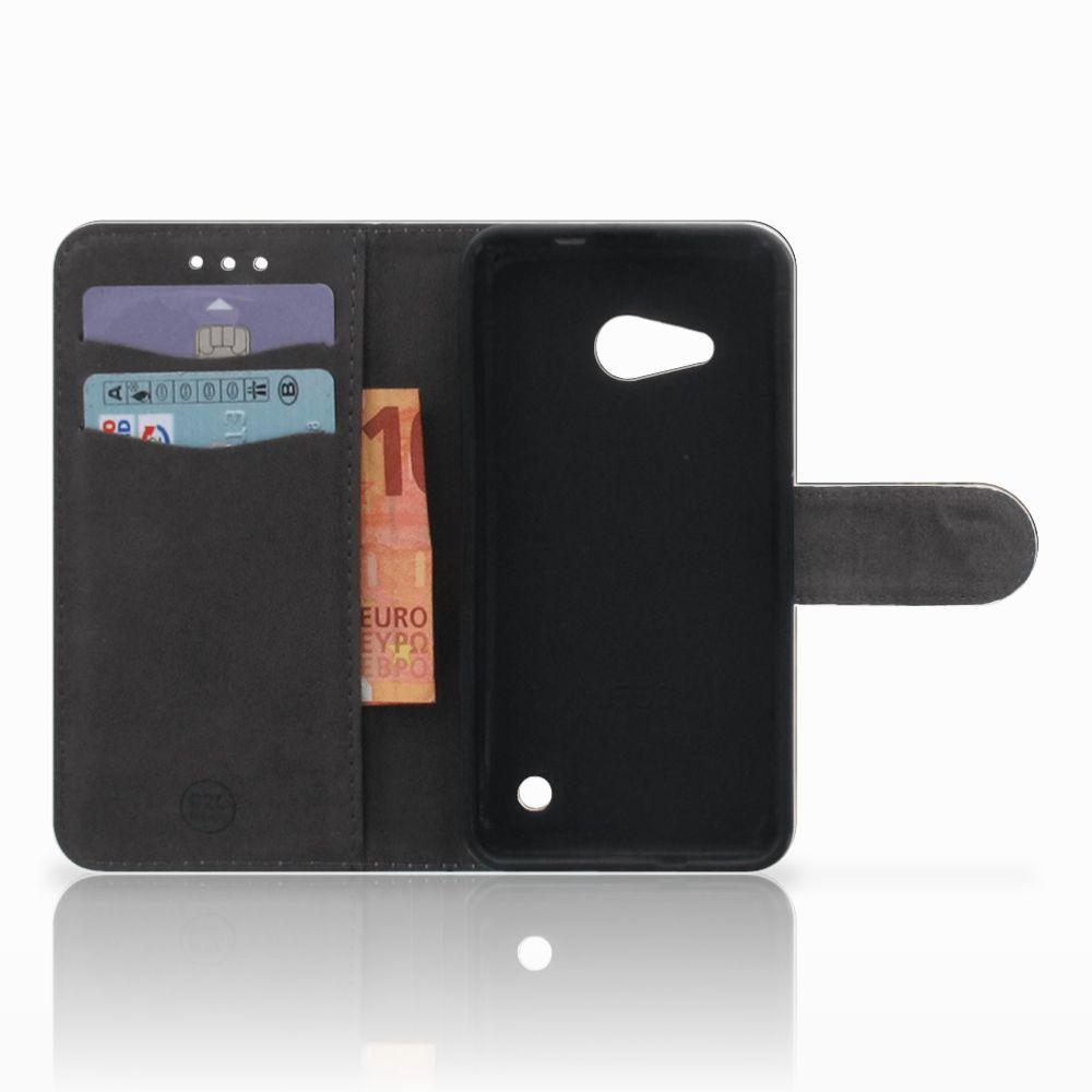 Microsoft Lumia 550 Telefoonhoesje met Pasjes Luipaard