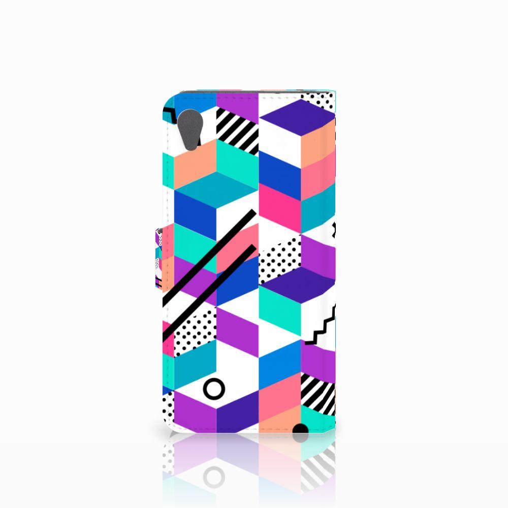 Sony Xperia Z5 Premium Bookcase Blokken Kleurrijk