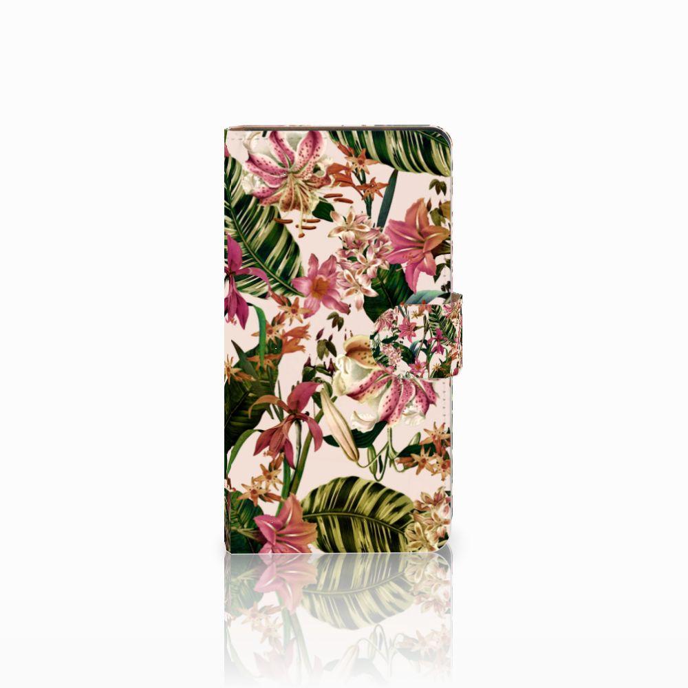 Huawei Ascend G700 Uniek Boekhoesje Flowers
