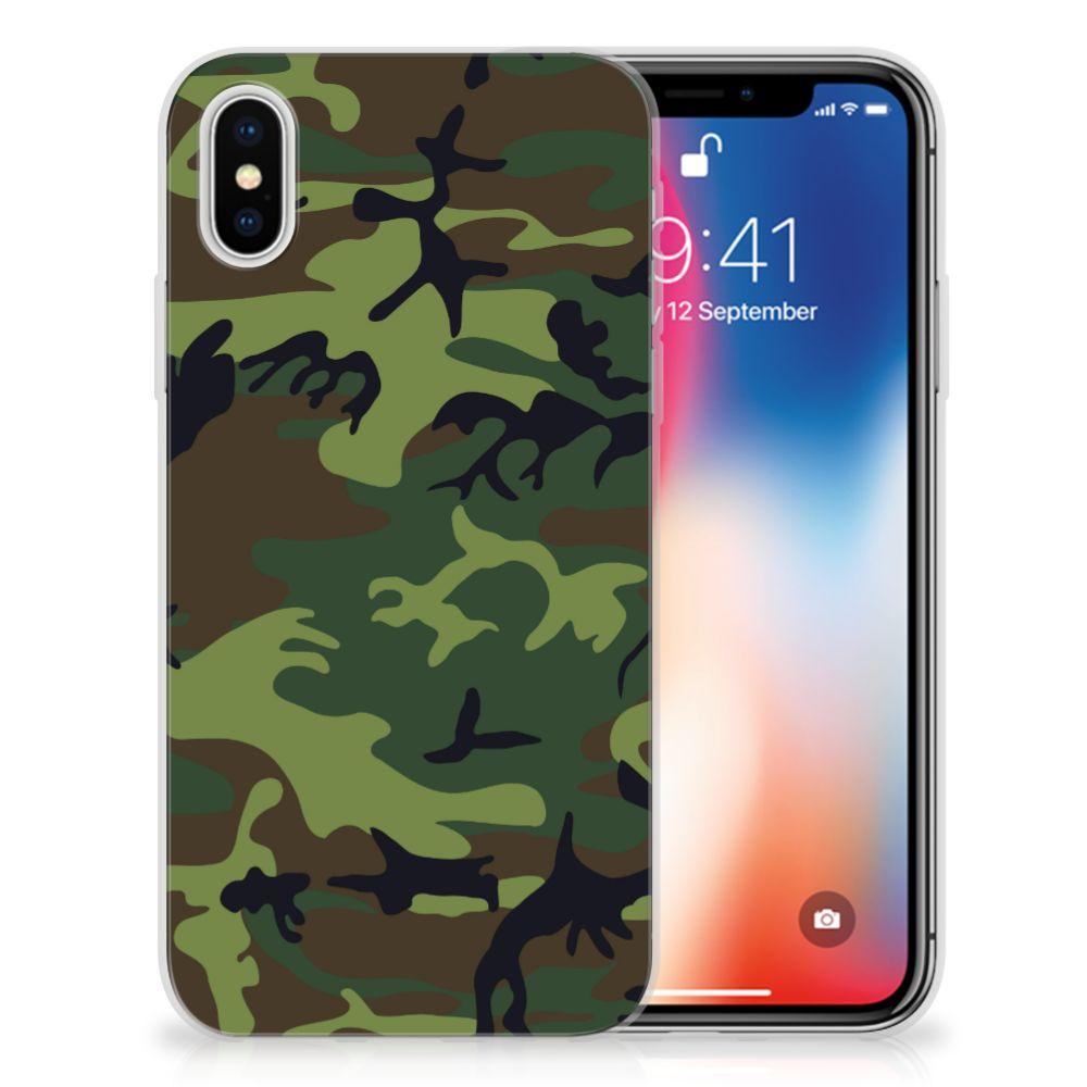 Apple iPhone X | Xs TPU Hoesje Design Army Dark