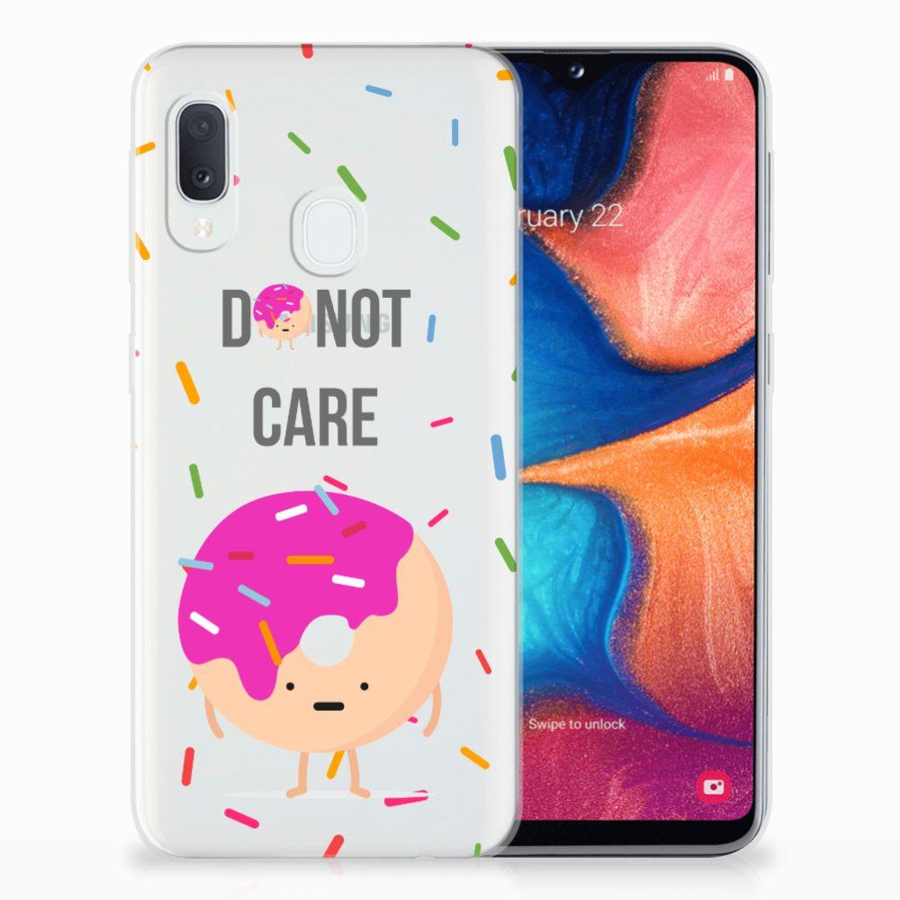 Samsung Galaxy A20e Siliconen Case Donut Roze