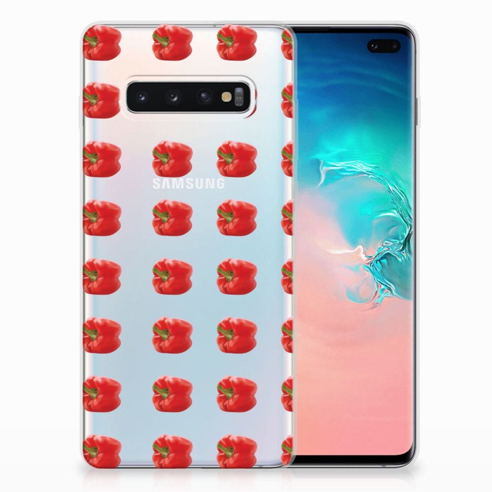 Samsung Galaxy S10 Plus Siliconen Case Paprika Red