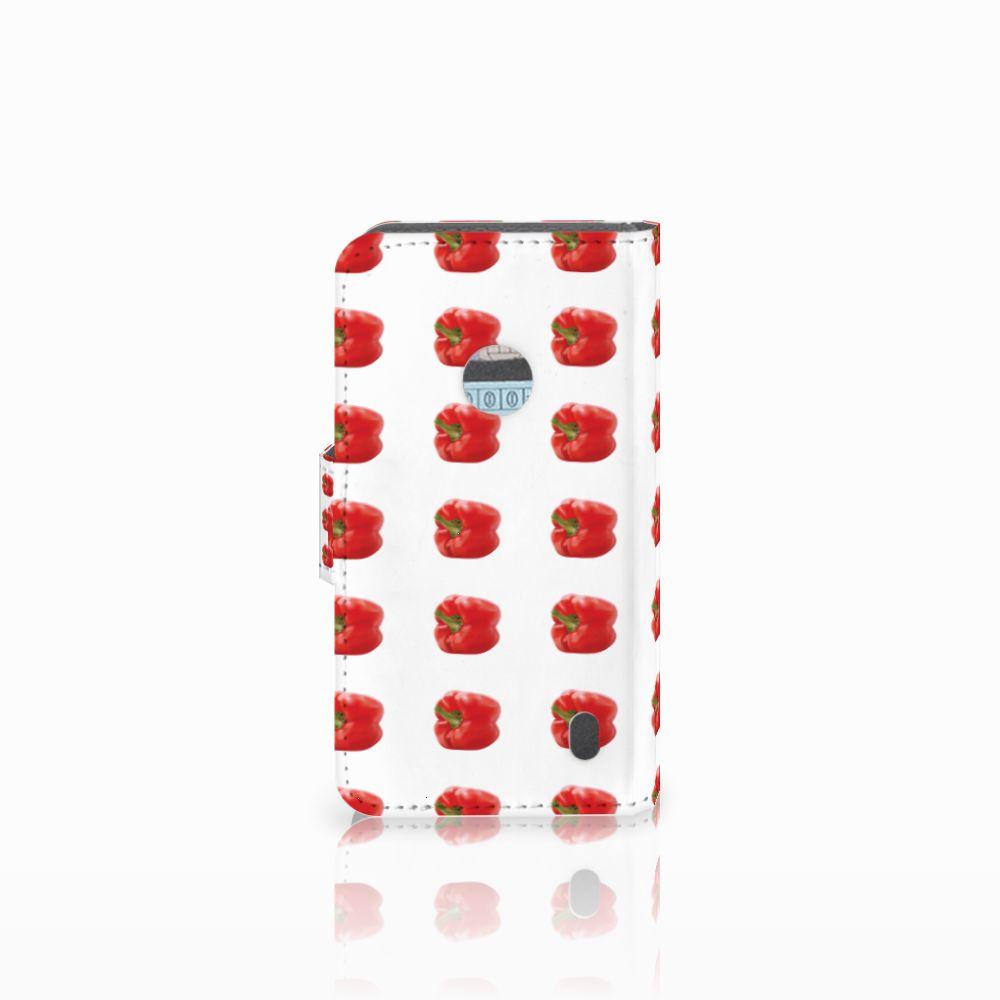 Nokia Lumia 520 Book Cover Paprika Red
