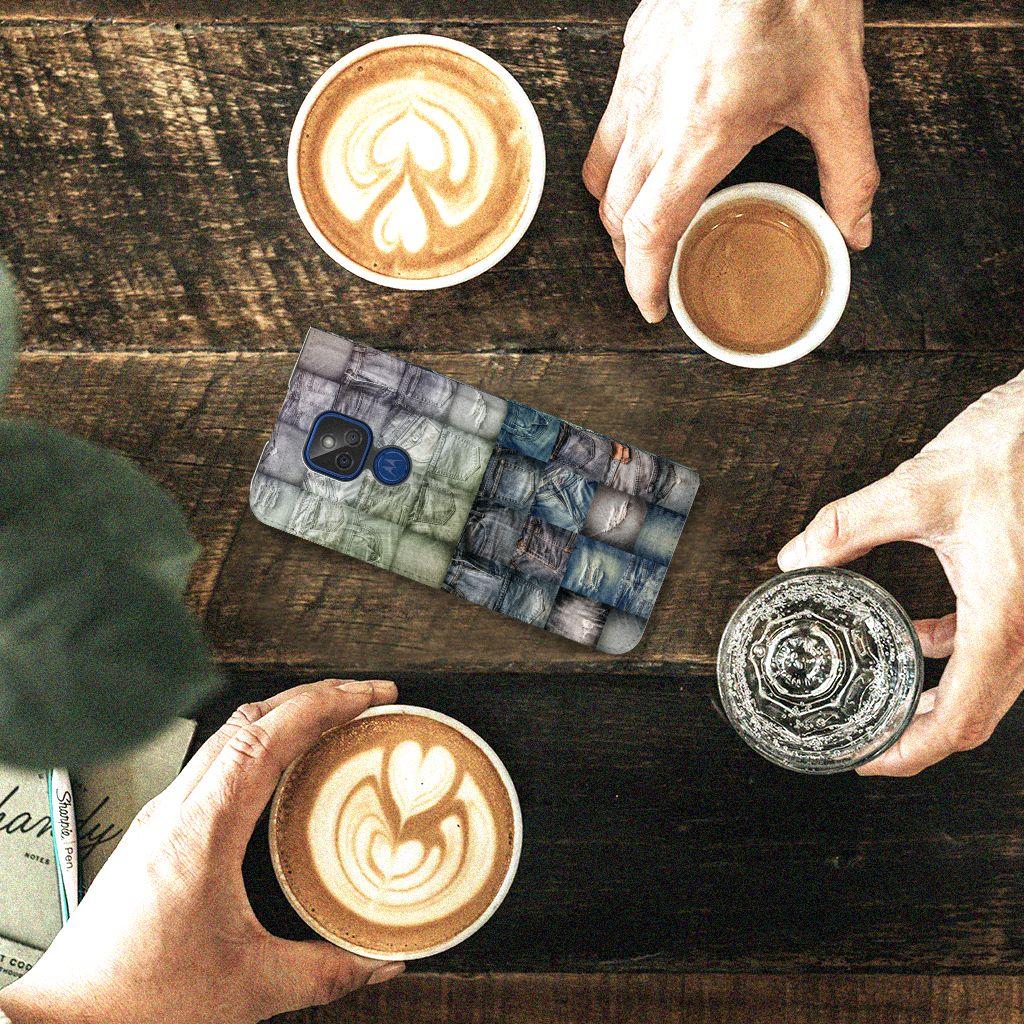 Hippe Standcase Motorola Moto G9 Play Spijkerbroeken