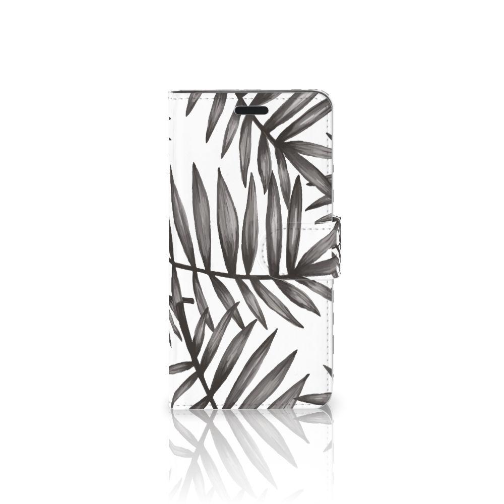 HTC 10 Uniek Boekhoesje Leaves Grey