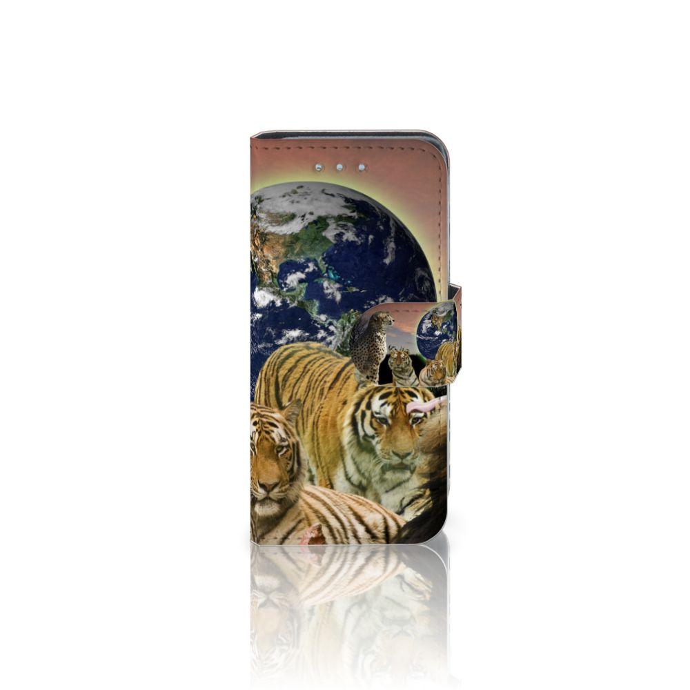 Samsung Galaxy S4 Mini i9190 Telefoonhoesje met Pasjes Roofdieren