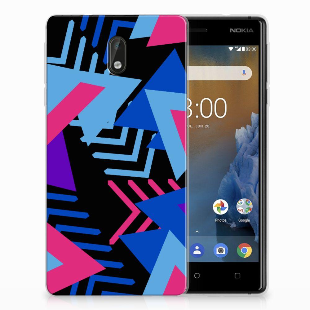 Nokia 3 TPU Hoesje Funky Triangle